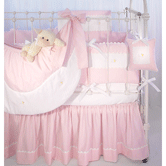 Crib Ensemble in pink Hopper & Primel with Sheep or Baby Bears