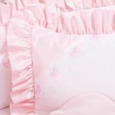 Boudoir Pillow in pink Celeste with French Bow & Lullaby