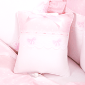 Musical Pillow in pink Celeste with French Bow & Lullaby