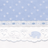 Fabric Sample in blue Celeste with Sailboat & Lullaby