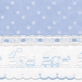 Fabric Sample in blue Celeste with Train & Lullaby