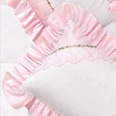 Boudoir Pillow in pink Celeste & white Primel with Flora & Penelope