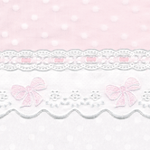 Fabric Sample for pink & white baby girl bedding in Celeste with French Bow & Lullaby
