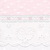 Fabric Sample for pink & white baby girl bedding in Celeste with Sweetheart & Lullaby