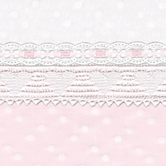 Fabric Sample for pink & white baby girl bedding in Celeste with Swiss Heart & Lullaby