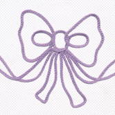 Fabric Sample in lavender Embroidered Bow