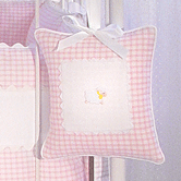 Musical Pillow in pink Hopper with Sheep & Ric Rac