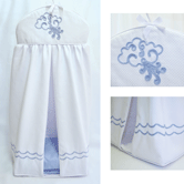 Diaper Stacker with Embroidered Sailboat