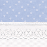 Fabric Sample in blue Celeste with Merry-Go-Round & French Ribbon