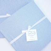 Fitted Crib Sheet in blue Checker