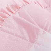 Quilted Coverlet in pink Celeste with French Bow & Lullaby