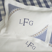 Monogrammed Coverlet & Pillow