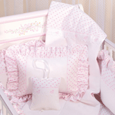 Quilted Coverlet, Boudoir Pillow & Musical Pillow