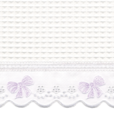 Fabric Sample in Waffleweave Blanket with lavender French Bow & French Ribbon